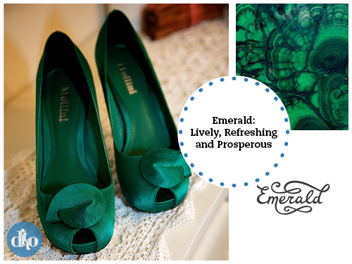 Emerald, colour of the year, ditto