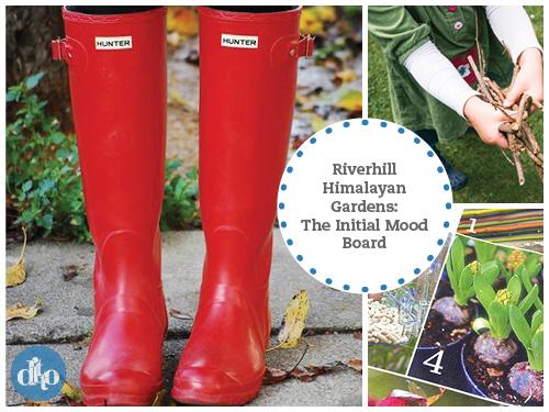 riverhill himalayan gardens, 2013 guidebook design, mood board 1