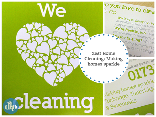 zest home cleaning, flyer design, sevenoaks 1