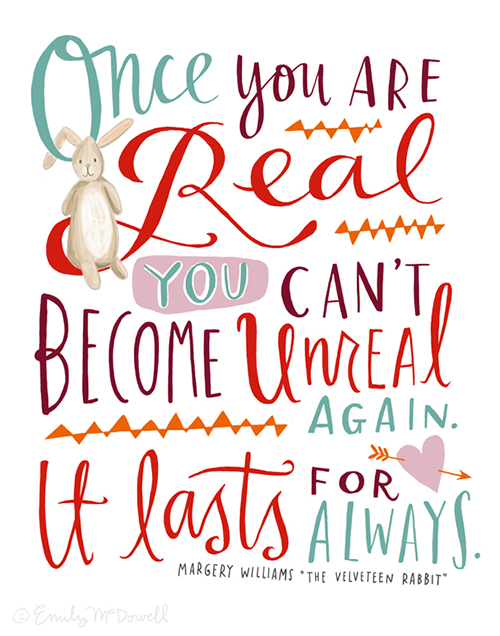 quote, velveteen rabbit