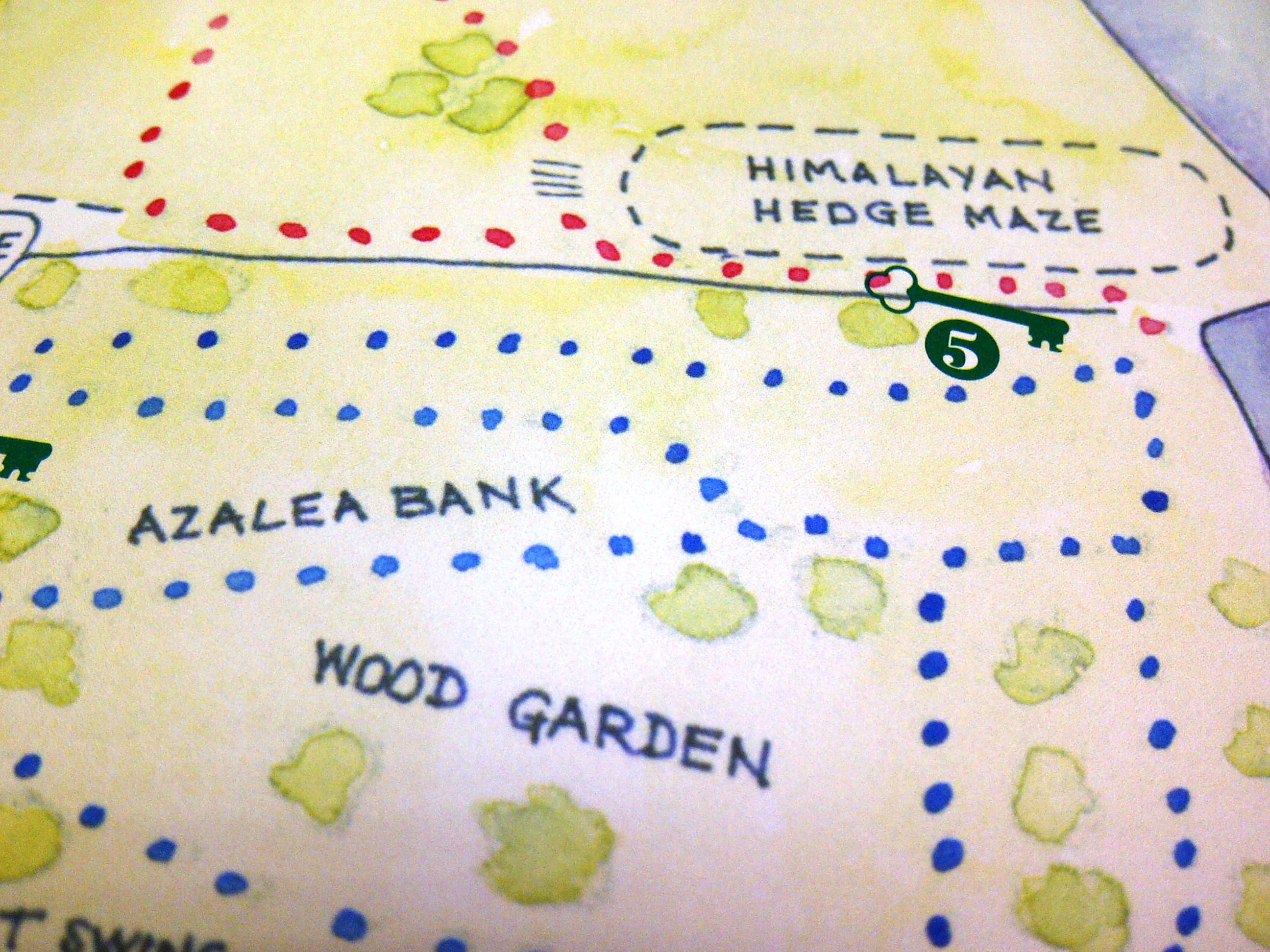 Riverhill Himalayan Gardens, Sevenoaks, garden map