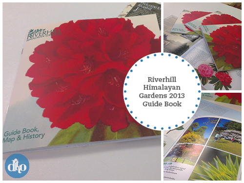 Riverhill Himalayan Gardens Sevenoaks Guide Book Design by Ditto