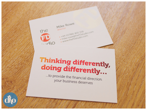 The FD Studio, financial, logo design, business card design, sevenoaks, branding