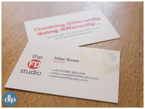 The FD Studio, financial, logo design, business card design