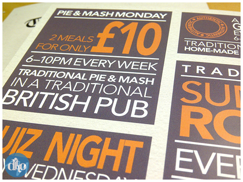 Chequers Sevenoaks menu design, ditto, pub, restaurant 3