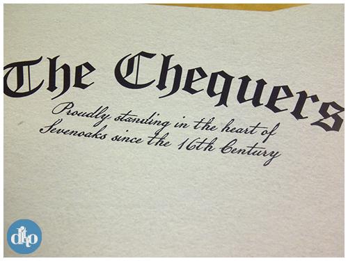 Chequers Sevenoaks menu design, ditto, pub, restaurant 4