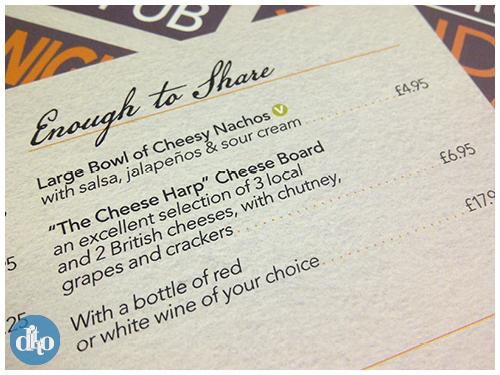 Chequers Sevenoaks menu design, ditto, pub, restaurant 5