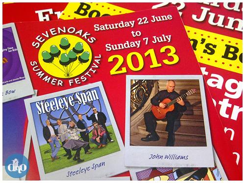 Sevenoaks summer festival, programme, design, ditto, creative, programme cover