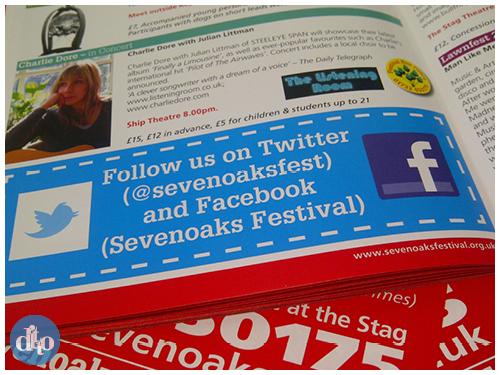 Sevenoaks summer festival, programme, design, ditto, creative, programme, inside page