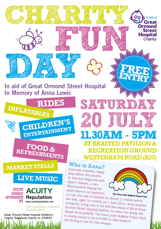 Anna Lewis Fun day, Sevenoaks, Great Ormond Street Hospital