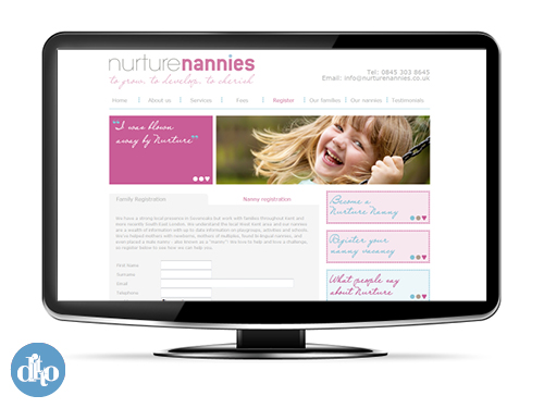 Nurture Nannies website - blog post2 web design sevenoaks