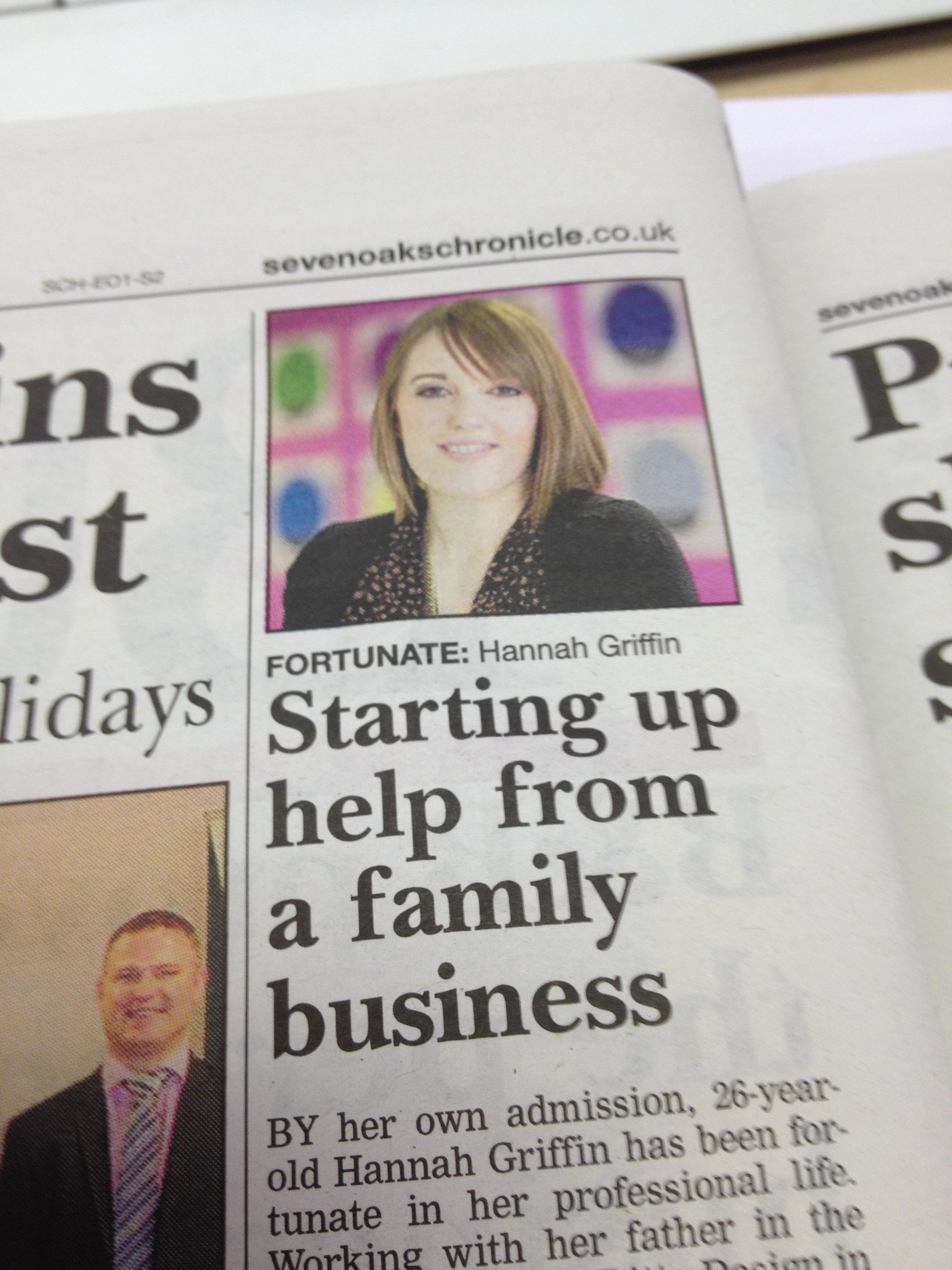 Sevenoaks Chronicle Hannah Griffin UK Start up loans