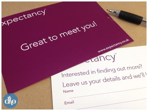 Expectancy postcard data capture exhibition