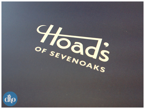 Hoads brand event invitation design logo