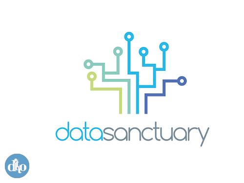 Data Sanctuary logo design, ditto, sevenoaks concept 2