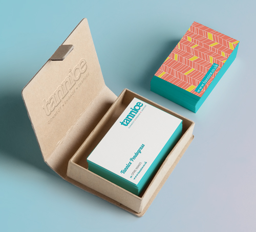 Tannice - Business Cards. Brand identity, logo design and brand styling by Ditto Creative, Kent