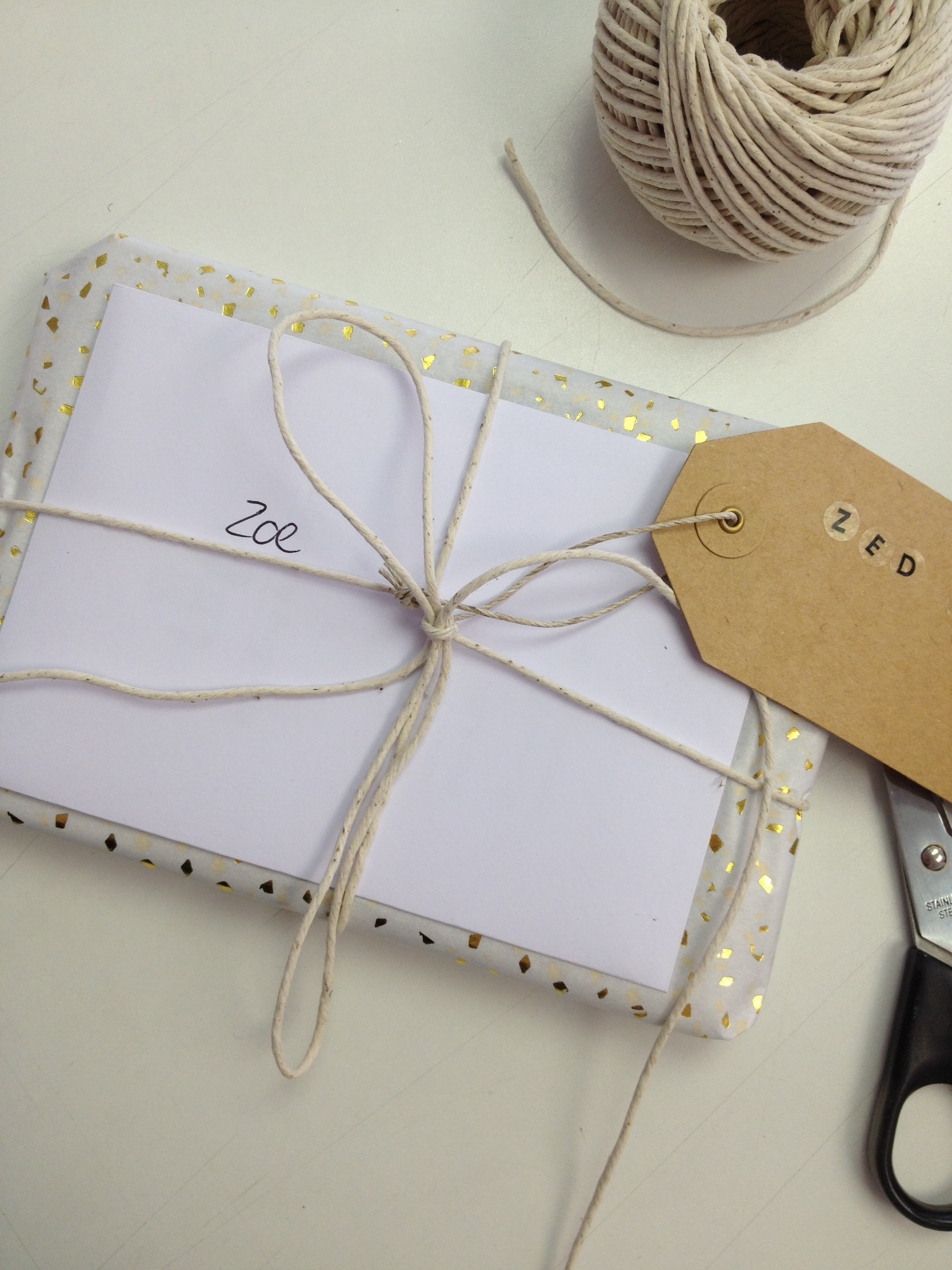 Gift wrapped brand identity