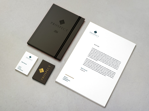 Prospect Financial, Sevenoaks Brand Identity Mock Up