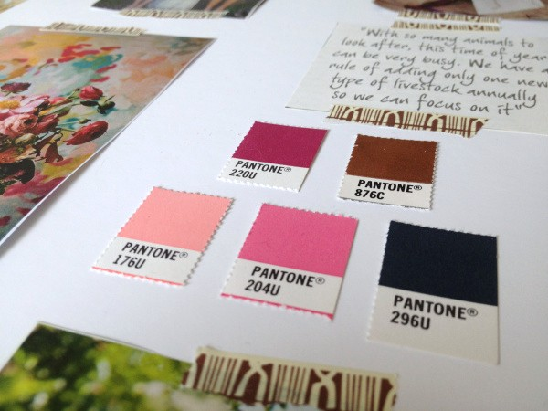 Leigh Farm Florist Colour Palette by Ditto Brand Stylists