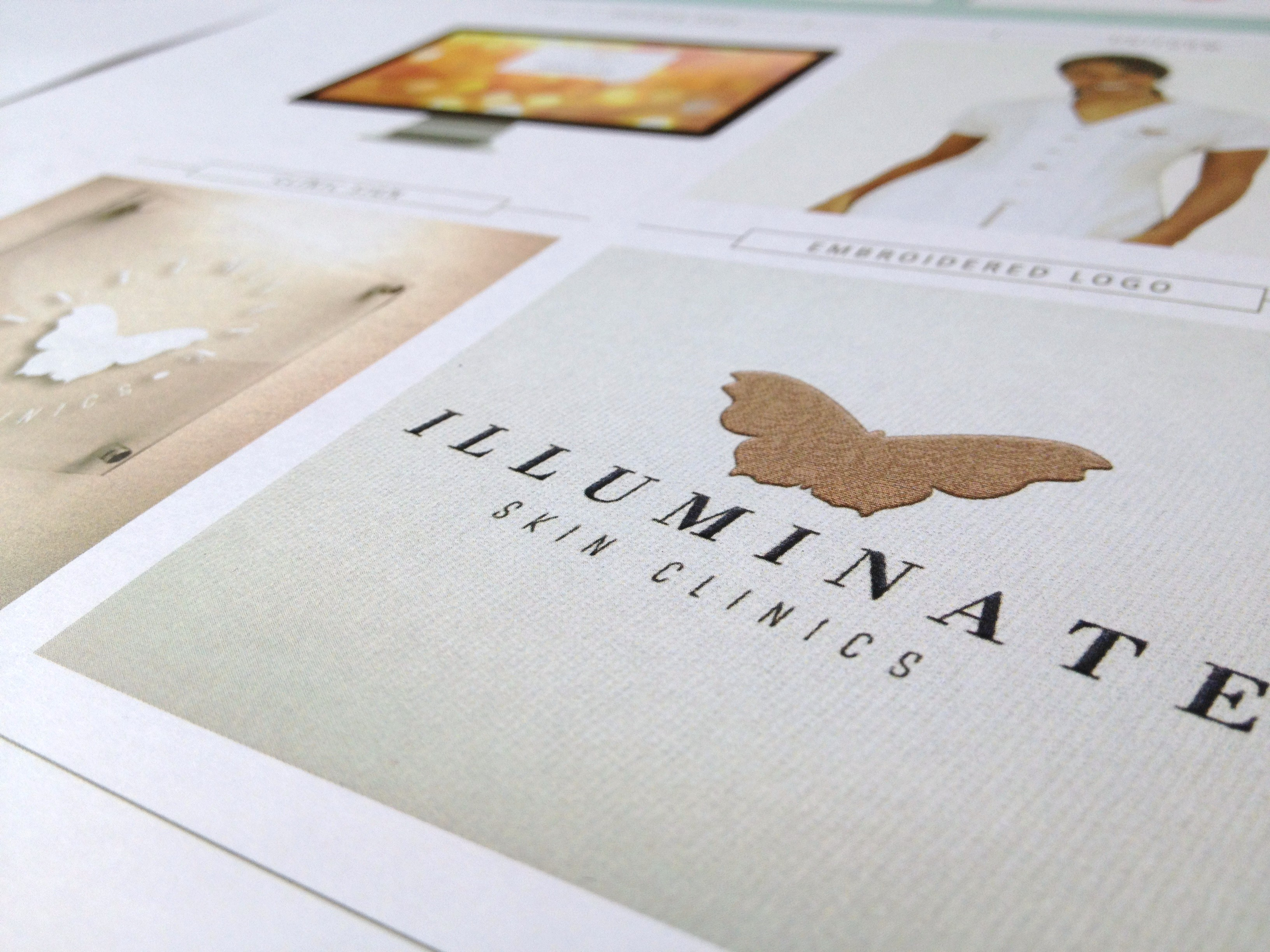 Illuminate Skin Clinics logo design and brand styling by Ditto Brand Stylists