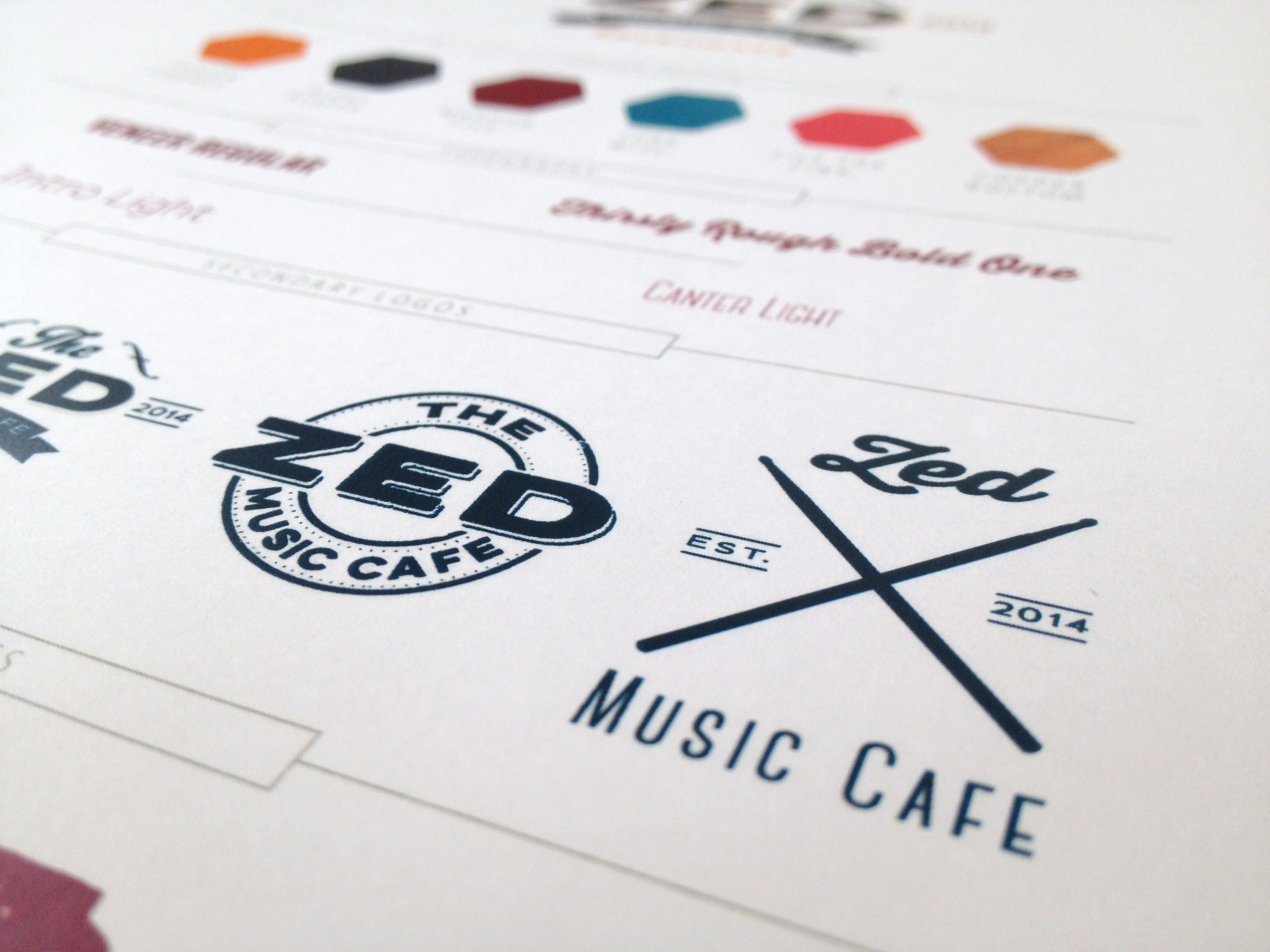 Zed Music Cafe Sevenoaks secondary logo design by Ditto Brand Stylists