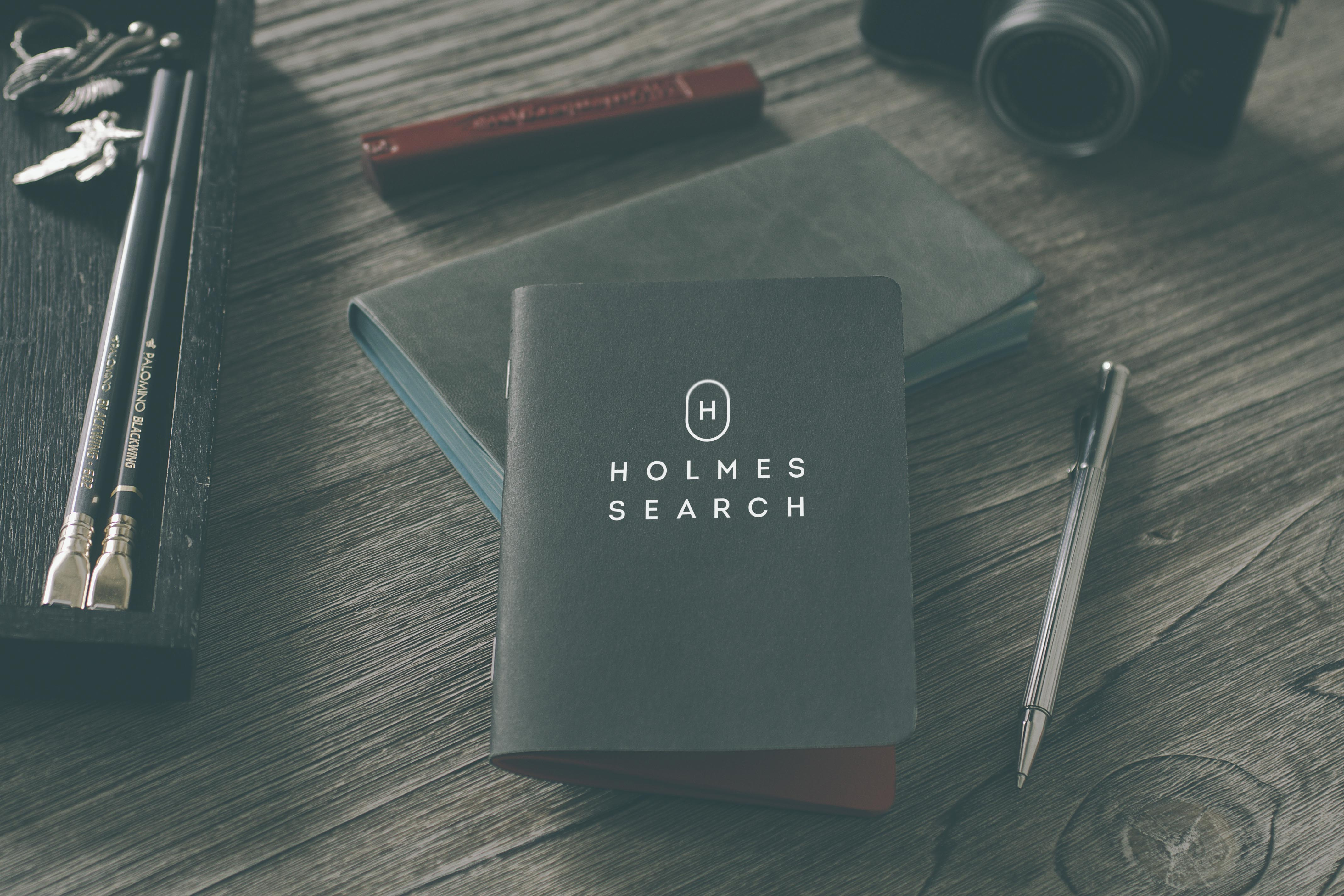 Holmes Search brand identity by Ditto Brand Stylists