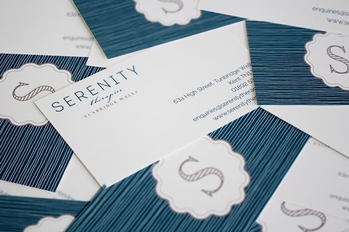 Serenity Therapies Tunbridge Wells business card