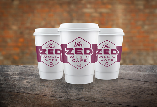 The Zed Music Cafe, Sevenoaks. Brand styling by Ditto Creative