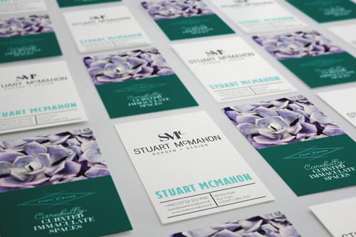 Stuart McMahon Garden Design logo design and brand identity by Ditto Creative Sevenoaks, Kent - business card design