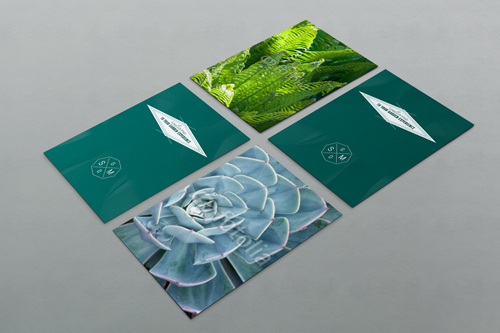Stuart McMahon Garden Design. logo design and brand identity by Ditto Creative, Sevenoaks, Kent - flyer design