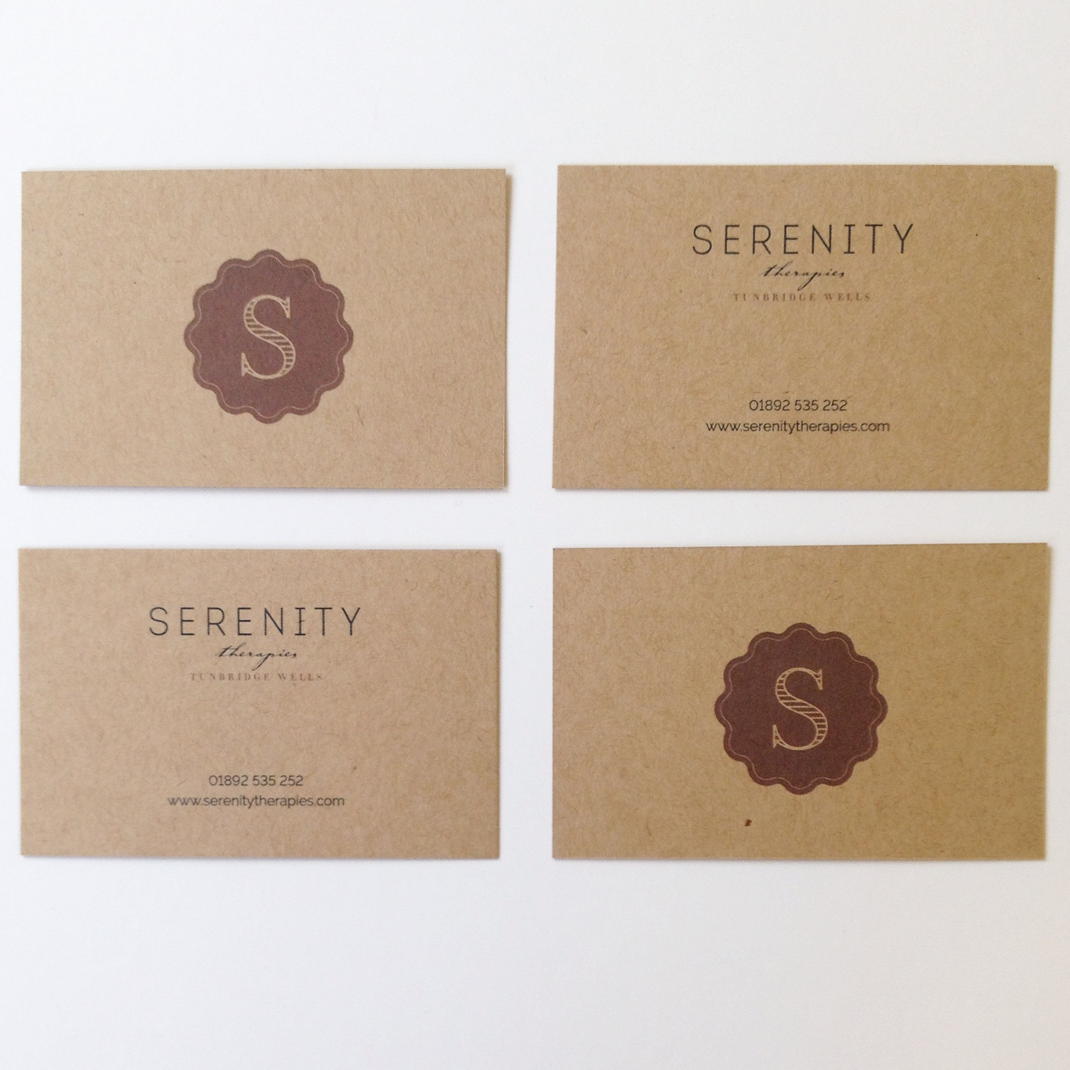 Business cards for Serenity Therapies of Tunbridge Wells by Ditto Creative, Kent