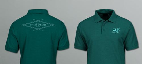 Stuart McMahon Garden Design, logo design and brand identity by Ditto Creative, Sevenoaks, Kent - T shirt design