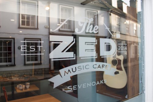 Zed Music Cafe Sevenoaks, logo design and branding by Ditto Brand Stylists
