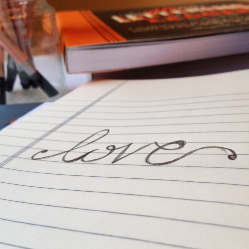hand lettering, Hannah Griffin