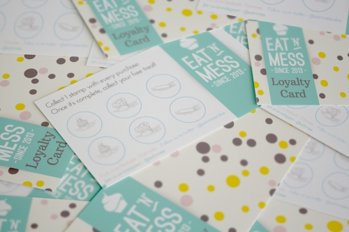 Eat N Mess loyalty card design by Ditto Creative Brand Stylists