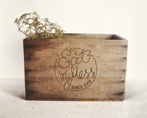 Eat N Mess rustic crate by Ditto Creative Brand Stylists